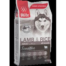 BLITZ ADULT LAMB AND RICE ALL BREED (корм для взрослых собак всех пород)