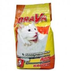 Brava Комкующийся наполнитель для длинношерстных кошек 5л.