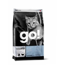 GO! NATURAL Holistic беззерновой для котят и кошек с чувствительным пищеварением с треской, Sensitivity + Shine Grain Free Pollock Cat Recipe