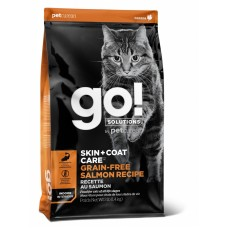 Корм GO! беззерновой для котят и кошек, с лососем, GO! SKIN + COAT