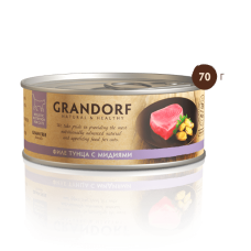 Грандорф  для кошек Филе тунца с Мидиями 70 гр.