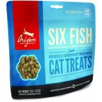Лакомство для кошек Orijen FD Six Fish Cat treats