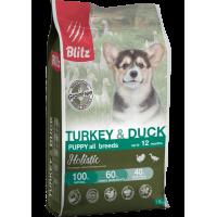 Blitz Holistic ИНДЕЙКА И УТКА — беззерновой сухой корм для щенков всех пород