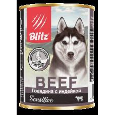 Консервы Blitz для собак «Говядина с индейкой»