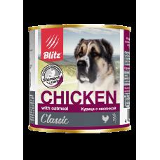 Консервы Blitz для собак «Курица с овсянкой»
