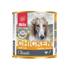 Консервы Blitz для собак «Курица с рисом»