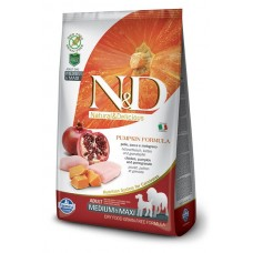 N&D Dog GF Pumpkin Chicken & Pomegranate Adult Medium & Maxi