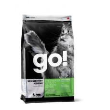 GO! NATURAL беззерновой корм для котят и кошек с чувствительным пищеварением: Форель, Лосось