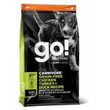 Корм GO! беззерновой для Щенков всех пород 4 вида мяса: Индейка, Курица, Лосось, Утка , GO! CARNIVORE GF