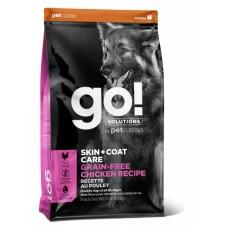 Корм GO! беззерновой для собак всех возрастов с цельной курицей, GO! SKIN + COAT