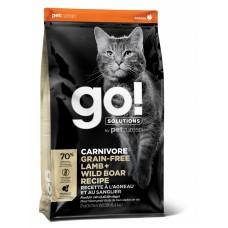 Корм GO! беззерновой корм для котят и кошек, с ягненком и мясом дикого кабана, GO! CARNIVORE GF Lamb + Wild Boar