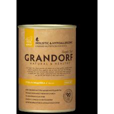 Консервы GRANDORF для собак всех пород с уткой и индейкой