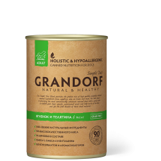 Консервы GRANDORF для собак всех пород с ягненком и телятиной