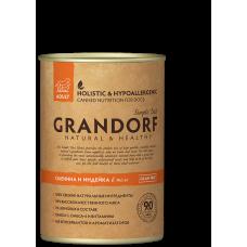 Консервы GRANDORF для собак всех пород с олениной и индейкой