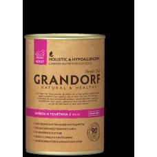 Консервы GRANDORF для собак всех пород с мясом буйвола и телятиной