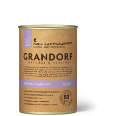 Консервы GRANDORF для собак всех пород с кроликом и индейкой