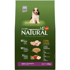 Guabi Natural для щенков Средних пород с цыпленком и коричневым рисом
