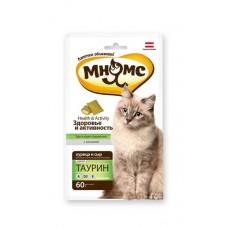 Мнямс хрустящие подушечки для кошек с курицей и сыром Здоровье и активность 60г